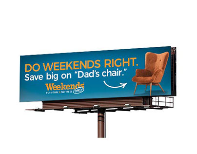 Weekends Only Billboard Concept