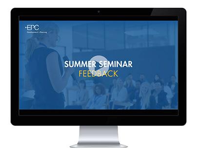 Presentation Design: Seminar Feedback Slides