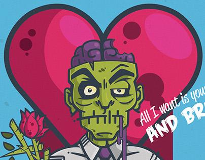 Vector Zombie Valentine