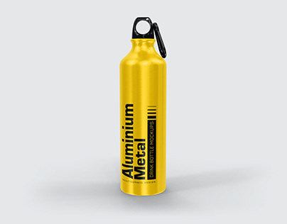 Aluminium Metal Drink Bottle Mockups