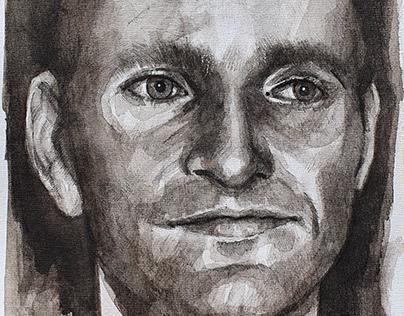 Portrait of Florian Schneider (Kraftwerk)