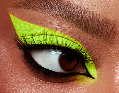 Neon eyes beauty