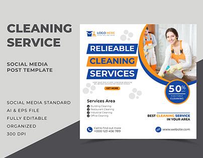 Cleaning Service Social Media Post Bundle