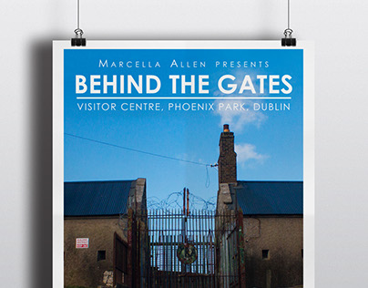 Behind the Gates exhibition poster & flyer