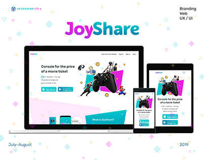 JoyShare website design