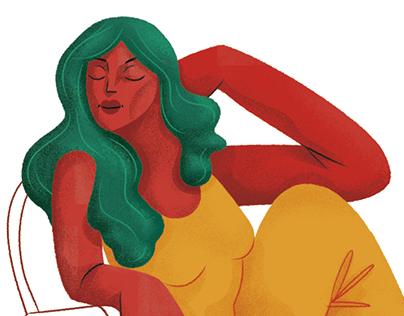 Ilustração editorial: Relax