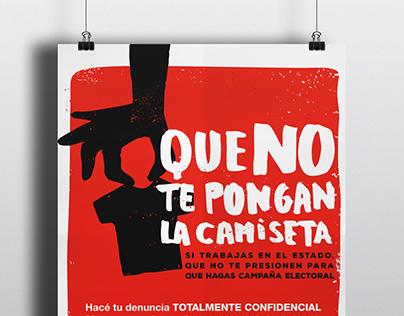Afiche campaña ONG