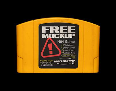 N64 Game FREE Mockup