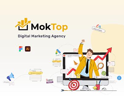 MokTop - Digital Marketing Agency Concept