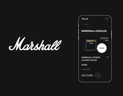 Marshall e-commerce