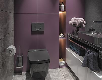 Interior design of toilet
