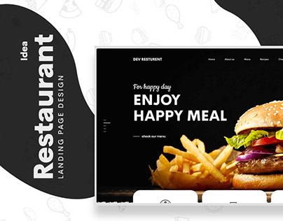 Free Dev Restaurant Web UIUX Design