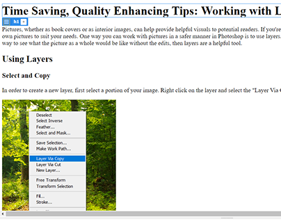 Working with Layers in Adobe Photoshop