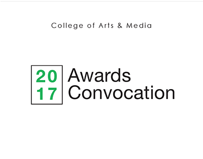 2017 Awards Convocation Invitation Design