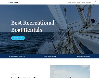 Boat Rental Website Design