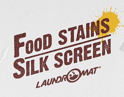 Laundromat - Food Stains Silk Screen