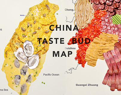 China city taste bud map