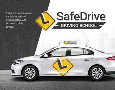 Driving School Responsive Website Theme