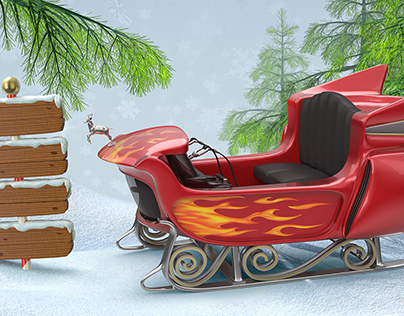 Santa Rocket Sleigh
