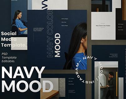 Navy Mood - Social Media Template