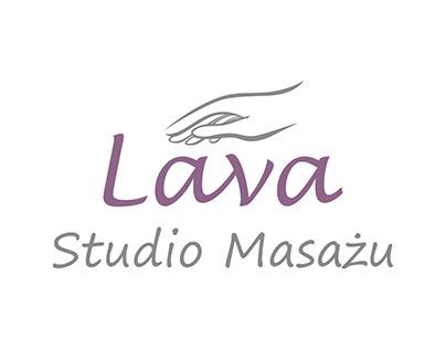 Logo Lava Studio Masażu / (Lava Massage Studio logo)