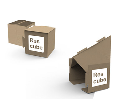 Rescube - emergency carton shelter