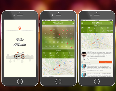 "Mobile App Design ""Bike Mania"""