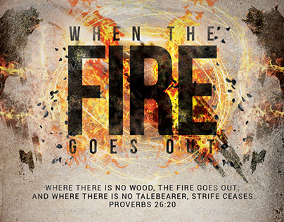 When the Fire Goes Out Church Flyer/Poster