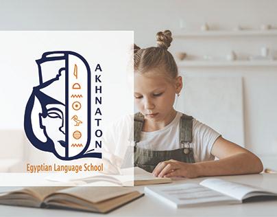Akhnaton Egyptian Language School - brand identity.