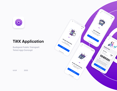 TiKK Application- Public Transport Ticket App Concept