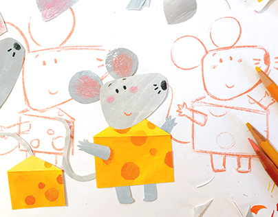 Little mouse and cheese planet