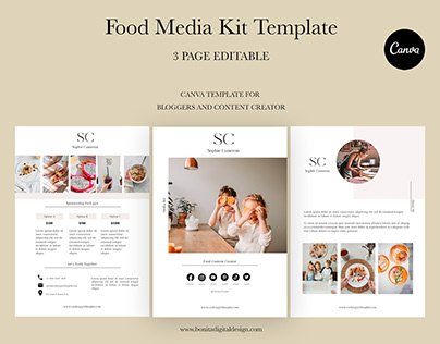 Food Content Creator Media Kit