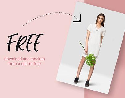 FREE | Tropic Women's Dress Mockup