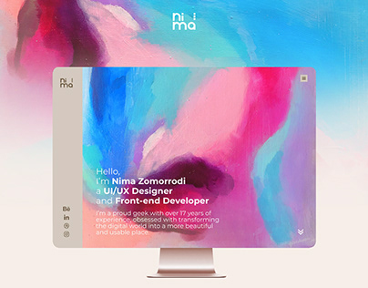 Nima Zomorrodi's Personal Website UI/UX Design