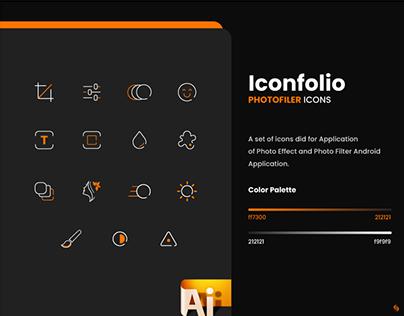 Photo Filter Icon Set