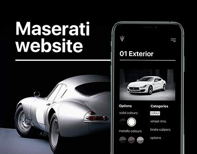 Maserati — Website design