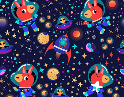 Design pattern with space donkey