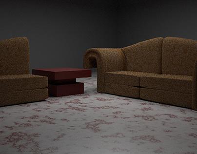 sofa 3D modeling