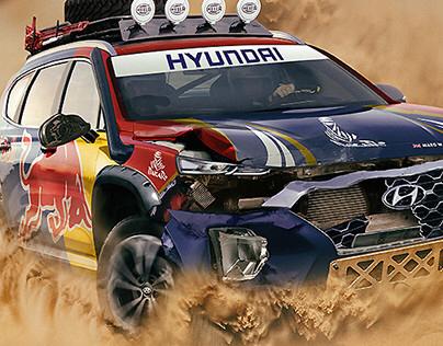 2019 Dakar Rally Hyundai Santa Fe (inc Video)