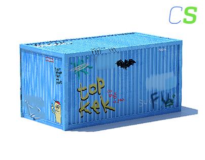 Graffiti Shipping Container