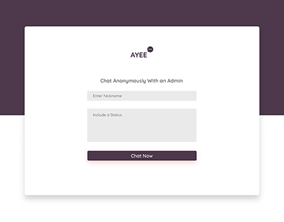 An anonymous chat platform