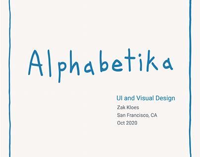 Alphabetika - UI Design Case Study
