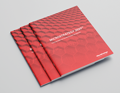MicroStrategy corporate marketing art direction/design