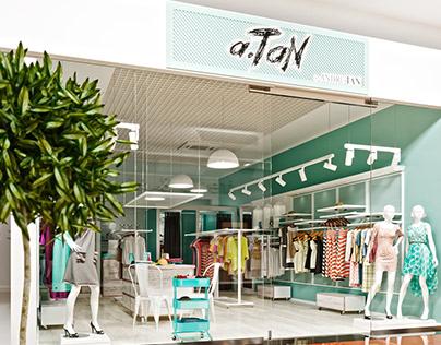 Дизайн бутика a.Tan | Design Of a.Tan Boutique