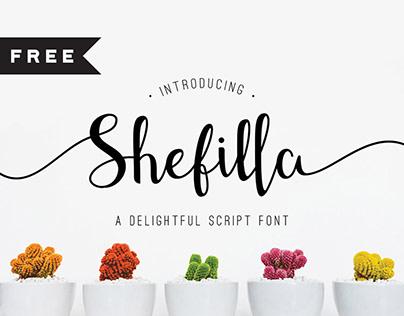 FREE | Shefilla - Script Font