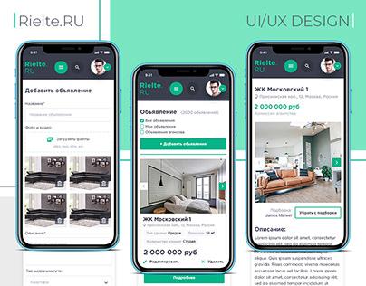 UI/UX Design for the Real Estate Platform.