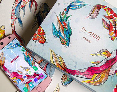 Meitu M8 Phone design - The Koi Flow