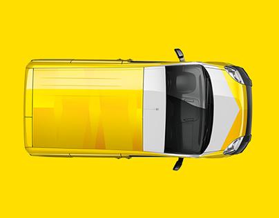 Rebranding for taxi-lorry GAZELKIN