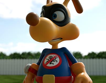 3D Superhero Dog