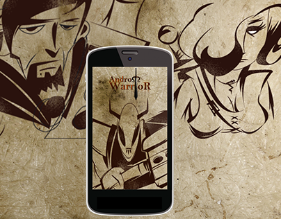 Application de jeux mobile Andro Warrior (avatars)